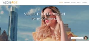 Photography company Azonvidz's website.