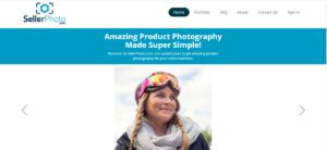 A screenshot of sellerphoto.com's home page.