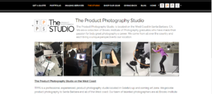The Product Photography Studio's website.