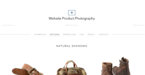 The home page for Website Product Photography.