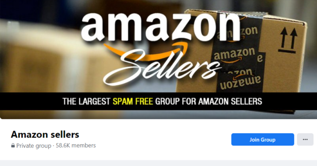A screenshot of the Amazon Sellers Facebook group forum.