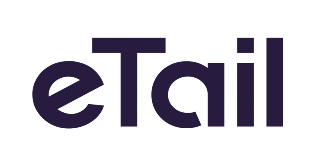 The logo for eTail.