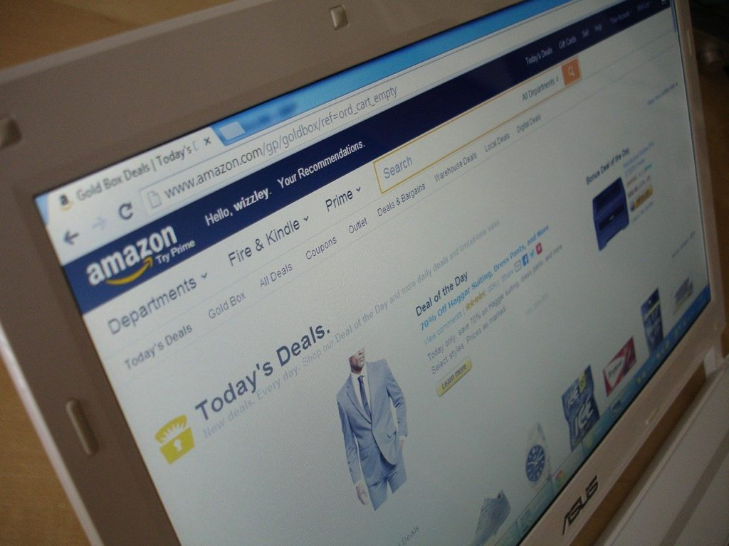 Amazon's website.