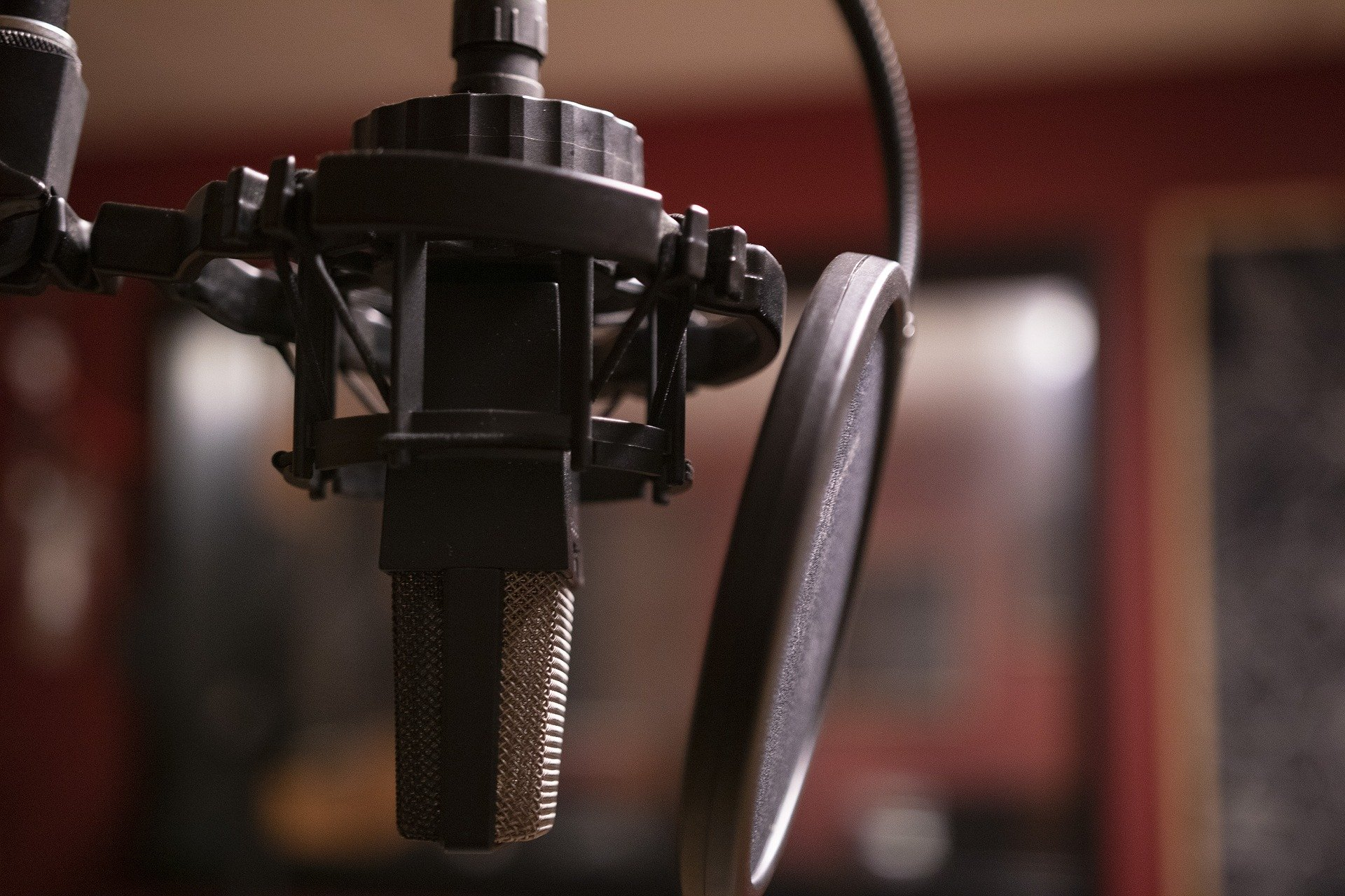 A photo of professional recording equipment being used to produce a podcast.