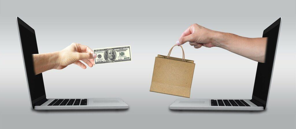 An online transaction.